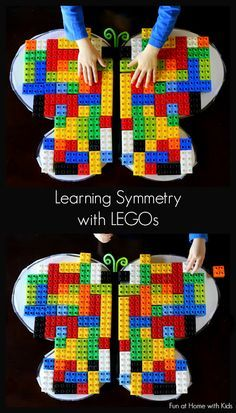 Spiegelen Learn symmetry by making Lego butterflies!