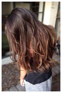Subtle brown bayalage hair color