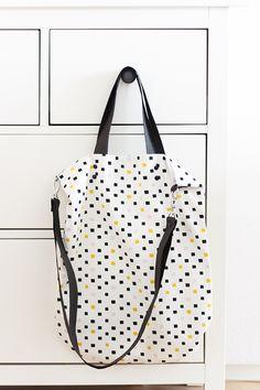 Simple Tote Bag - kostenlose Anleitung mit Schnittmuster für eine einfache Tasche für jeden Tag!