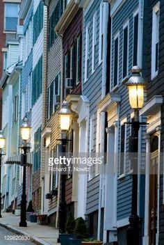 ... Boston - Massachusetts,Charlestown - Massachusetts,City,Color Image,Dusk,Flower Pot,Footpath,House,Massachusetts,No People,North America,Outdoors ...