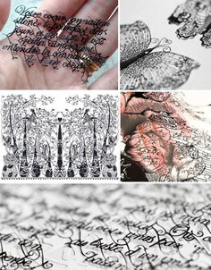 AMAZING Paper Art...These are actually hand cut! The white area of the butterfly wings are actually voids where the paper is cut out. Simply beautiful!