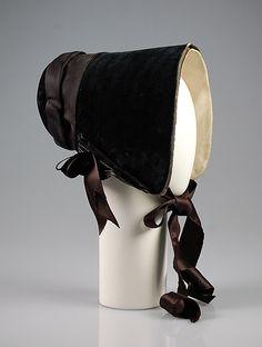 1845 ___ Bonnet ___ Silk ___ American ___ at The Metropolitan Museum of Art