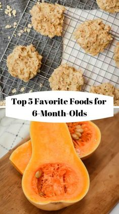 Top 5 Favorite Foods for // 6 month old food ideas // 6 month old b. Top 5 Favorite Foods for // 6 month old food ideas // 6 month old baby food recipes // 6 month baby food 7 Month Old Baby Food, Baby Food By Age, 6 Month Old Baby, Food Baby, Blw Breakfast Ideas, Baby Breakfast, Baby Led Weaning, Baby Food Recipes Stage 1, Baby Recipes