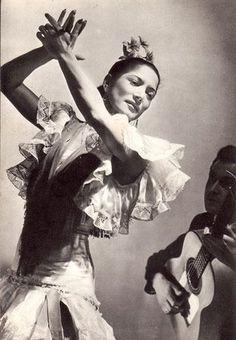 Late Carmen Amaya, was een Spaanse Flamenco danseres, Flamenco zangers en actrice