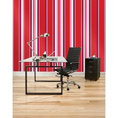 Lunarland RED HOT STRIPE 16 Wall Sticker Border Wallpops Removable Wallpaper Room Decor >>> Click image to review more details.