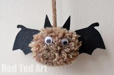 Bat Crafts - Pom Pom Bats