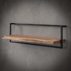 Wood, Shelves, Interior, Wall Shelves, Solid Wood, Diy Furniture Projects, Steel Wall, Acacia Wood, Wood And Metal