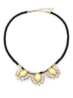 ABS by Allen Schwartz Jewelry Triple Pendant Cord Necklace