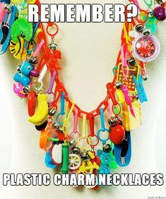 Plastic Charm Necklace