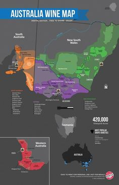 """CabinetRooms: """"Fancy going New World tonight? Here's a great #wine map of #Australia from [@]flandersmarc to help decide. [@]winewankers"""" : twitter - 10/22/14"""