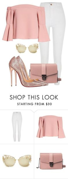 """""""Melissa"""" by itsmariahi ❤ liked on Polyvore featuring River Island, Topshop, Dolce&Gabbana, Christian Louboutin, 2018 and itsmariahi"""