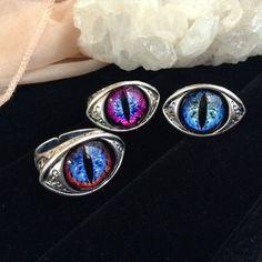 ※一部ホロ入り ドラゴンの瞳 魔王の指輪 ごつめリング ブルーアイ幼竜兄弟 +従姉の美竜 各1個