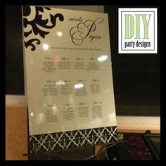 ivory & black seating chart template #wedding #seatingchart #template http://www.diypartydesigns.com