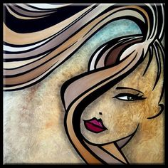 Faces1176 2424 Original Abstract Art Painting Who You Are