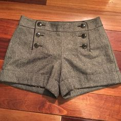 Dressy High Waist Shorts Dressy shorts with cute button detail Shorts