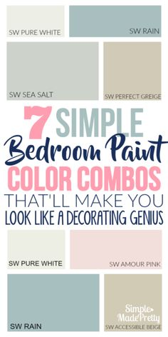 Need Help Choosing a Paint Color for Your Bedroom? I love these feminine paint colors in our bedroom. It gives just the right touch of pink that I was looking for and my daughter loves these paint colors for her tween bedroom. Bedroom Colors And Moods, Best Bedroom Paint Colors, Girls Room Paint, Girls Bedroom Colors, Kids Bedroom Paint, Bedroom Girls, Male Bedroom, Playroom Paint Colors, Painting A Bedroom