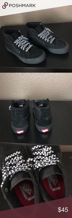 df49c64c967 Vans black on black old skool EUC barely worn vans Old Skool high top  sneakers. Women s size 38 Vans Shoes Athletic Shoes