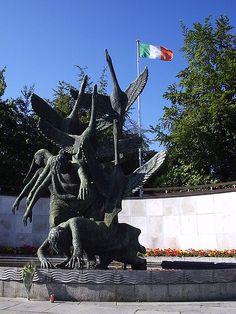 Children of Lir, sculpture in the Garden of Remembrance in Dublin, Ireland