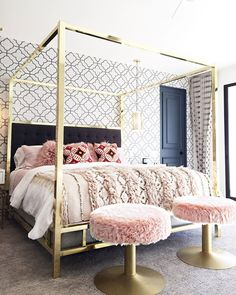 Modern canopy bed, modern beds, canopy bedroom, canopy beds, canopy bed g. Modern Canopy Bed, Canopy Bed Frame, Canopy Bedroom, Home Decor Bedroom, Canopy Beds, Bedroom Furniture, Bedroom Ideas, Modern Beds, Canopy Bed Girl