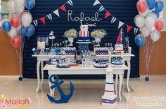 Festa Marinheiro | Festa infantil | Boy Party | Decoração by Mariah festas # marinheiro #festamenino #Mariahfestas | mikey tema | Pinterest | Niños y  Fiestas