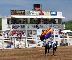 Prescott, AZ.  Home of the World's Oldest Rodeo (every summer around the 4th of July).