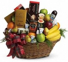 The Ultimate Christmas Basket.  Christmas Gifts, Holiday Gift Baskets, Allen's Flower Market Reseda Christmas Gifts.  http://www.allensflowermarketonline.com/the-ultimate-christmas-basket/
