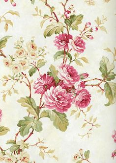 CHELSEA GARDENS Fine Decor DE40847 #quaint #floral #vintage Vintage Floral Fabric, Vintage Roses, Vintage Prints, Watercolor Flowers Tutorial, Watercolor Rose, Chelsea Garden, Floral Printables, Floral Drawing, Wallpaper Pictures