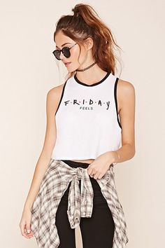 Friday Feels Graphic Tank Top