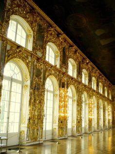 Golden walls.