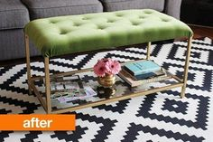 Before & After: IKEA Nesting Table To Chic, Glam Ottoman — Ikea Hackers in a lighter color, so so cute and so so easy looking.