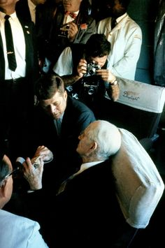 Cornell Capa photographs JFK on Kennedy's campaign train in Califonia, Sept 8th - 9th,1960
