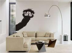 Ostrich wall decal Ostrich wall sticker Animal by AyiphaArtStudio