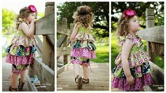 Destiny's Triple Ruffle Top PDF Sewing Pattern by Create Kids Couture