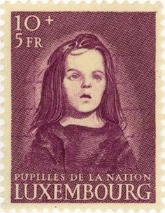 Luxembourg, 1950. Stamp benefiting War Orphans. Design by S.L. Hartz.