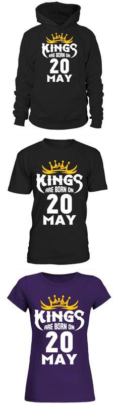 c463b2c588339f Son volt t shirt kings are born on 20 may créer son t shirt en ligne