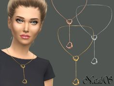 Double heart necklace by NataliS at TSR • Sims 4 Updates