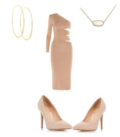 """Nude"" by valenzheidy ❤ liked on Polyvore featuring Balmain, Dorothy Perkins, Lana and Kendra Scott"