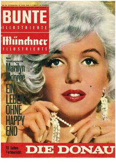 Marilyn Monroe - Bunte Illustrierte, Aug, 1962.