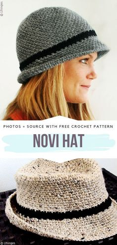 Beautiful Summer Hats Free Crochet Patterns Novi Hat Free Crochet Pattern Best Picture For Crochet clothes For Your Taste You are looking for something,. Crochet Summer Hats, Easy Crochet Hat, Crochet Simple, Bonnet Crochet, Crochet Motifs, Crochet Beanie, Crochet Scarves, Crochet Crafts, Crochet Clothes