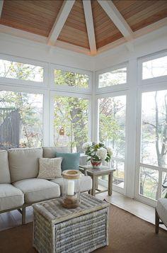 misty morning on the sun porch- windows