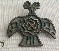 Aquila bicefala. 1206-1386. Simbolo dell'impero bizantino e Mongolia Nestore o chevvorddi