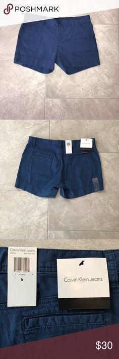 NWT Calvin Klein Shorts - Blue NWT Calvin Klein Shorts - Blue - Cotton Blend.                                     ⚡️Add any item to a bundle to receive a private discount ⚡️ Calvin Klein Jeans Shorts