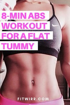 8 Minute Abs Workout Routine to Flatten and Tone Your Stomach abs workout for a flat tummy. 8 Min Ab Workout, Flat Tummy Workout, Abs Workout Routines, Lower Ab Workouts, Abs Workout For Women, Workout Schedule, Workout Challenge, Cardio Workouts, Woman Workout