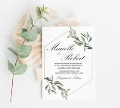 This listing is for the DIGITAL or EDITABLE PDF files. If you would like the PRINTED invite listing, please see the link below: https://www.etsy.com/HeavenandFifthStudio/listing/574311322 Make the perfect first impression for your very special day with our Wedding Invitation