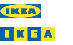 IKEA old and new logos