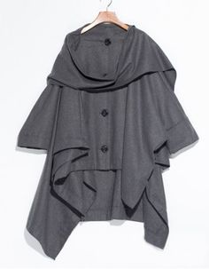 Chic Cowl Neck Solid Color Long Sleeve Coat For WomenCoats | RoseGal.com