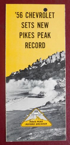 1956 Chevrolet ad from Pikes Peak record