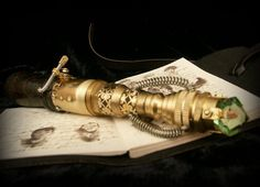 Sonic screwdriver inspired steampunk device with by TheTimeCabinet