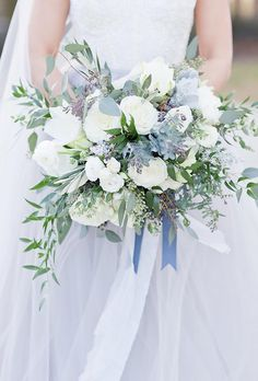 The Most Popular Wedding Color Trends For 2018 ❤ See more: www. The Most Popular Wedding Color Trends For 2018 Wedding Flower Guide, Blue Wedding Flowers, Wedding Flower Arrangements, Bridal Flowers, Green Wedding, Floral Wedding, Trendy Wedding, Wedding Ideas, Wedding Boquette