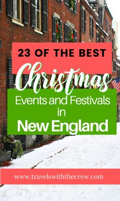 A curated list of the best events and festivals in New England in December. Christmas festivals in Maine, Christmas Festivals in Massachusetts, Christmas Festivals in Rhode Island, Christmas Festivals in Vermont, Christmas Festivals in New Hampshire, Christmas Festivals in Connecticut. New England Christmas Traditions. Plus the history of Christmas in New England